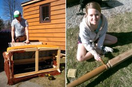kristin and collin building their tiny home