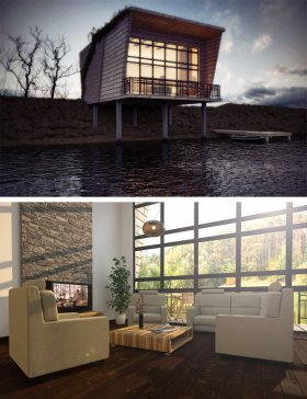 lake house behance