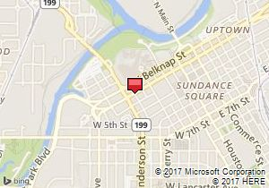 Map of Avis Location:Fort Worth Downtown